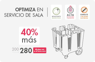 optimiza en servicio de sala hosteleria steelite